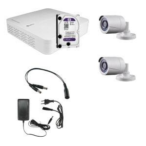 HD Coax KIT m. 2 kamera