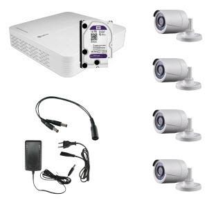 HD Coax KIT m. 4 kamera