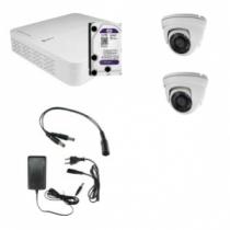 HD Coax KIT m. 2 DOME kamera
