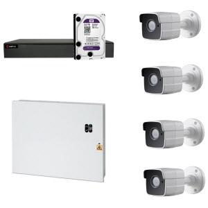 HD Coax PRO KIT m. 4 kamera