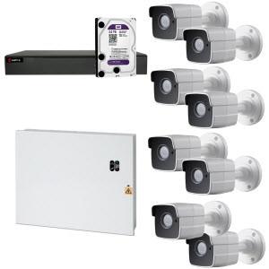 HD Coax PRO KIT m. 8 kamera