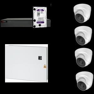 HD Coax PRO KIT m. 4 DOME kamera