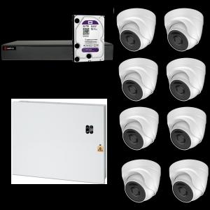 HD Coax PRO KIT m. 8 DOME kamera